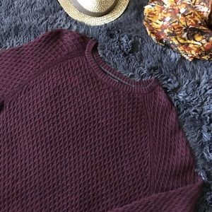 Banana Republic Burgundy Cable Knit Sweater